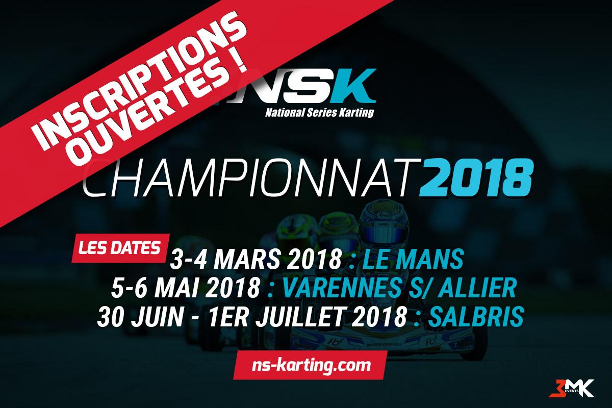 Ouverture des inscriptions du Championnat NSK 2018 !