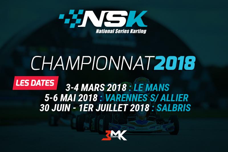 Calendrier du Championnat NSK 2018
