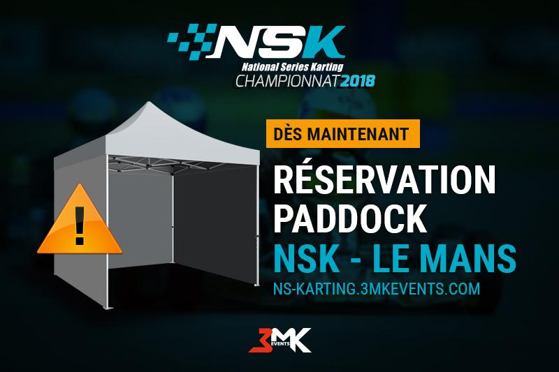 Réservation paddock NSK Le Mans