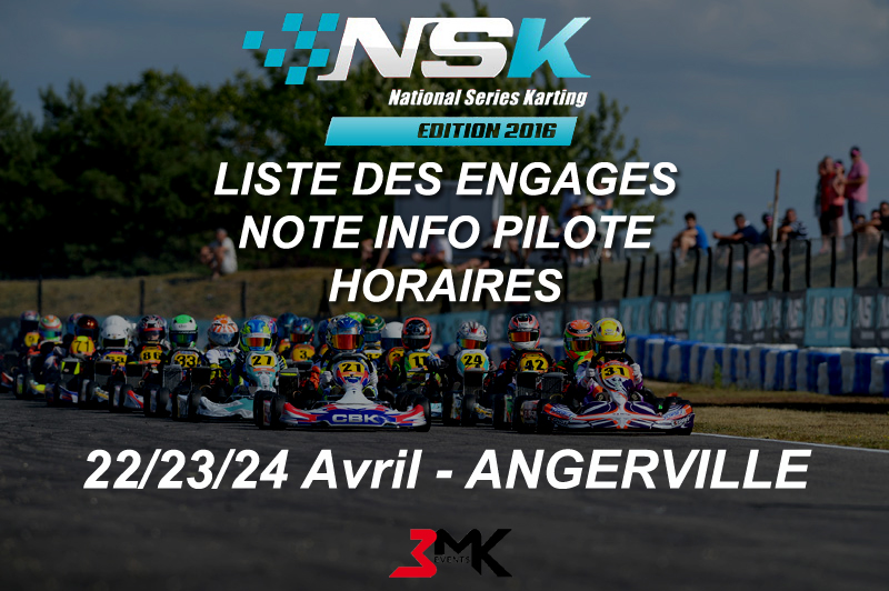 Informations NSK ANGERVILLE 2016