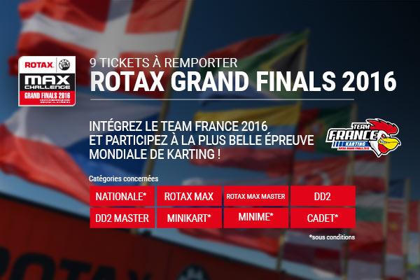 Grande Finale Rotax : 6 tickets pour les 8-12ans