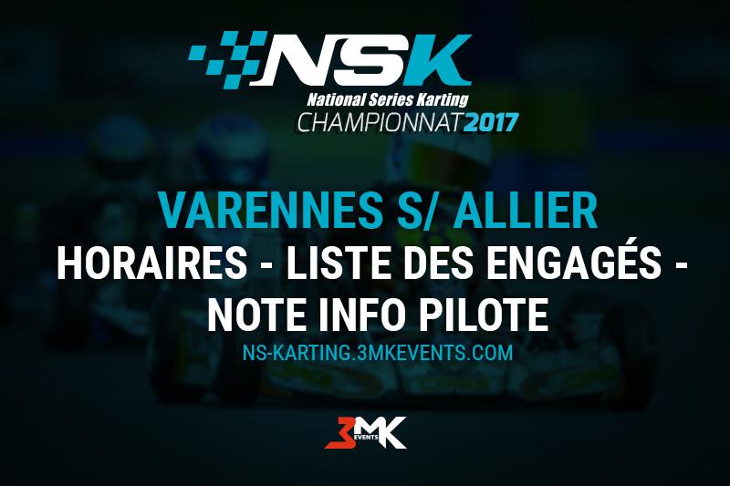 NSK Varennes 2017 : Les infos