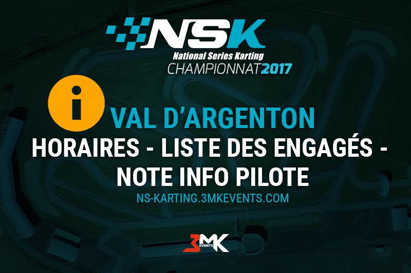 NSK VAL D'ARGENTON : LES INFOS