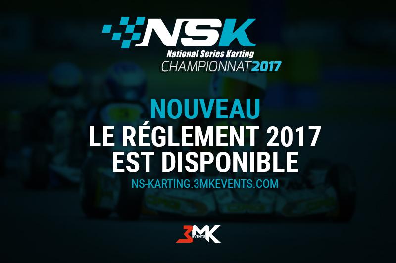 LE REGLEMENT NSK 2017 EST DISPONIBLE