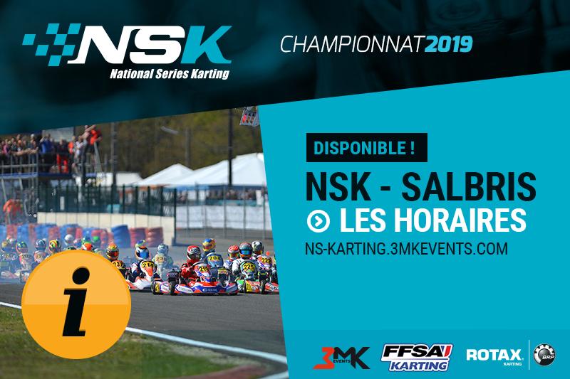 NSK SALBRIS 2019 : LES HORAIRES