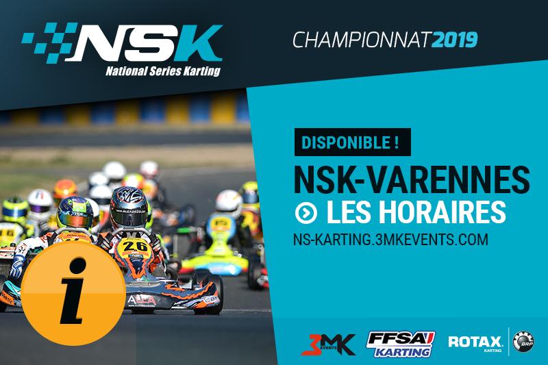 NSK VARENNES 2019 : LES HORAIRES