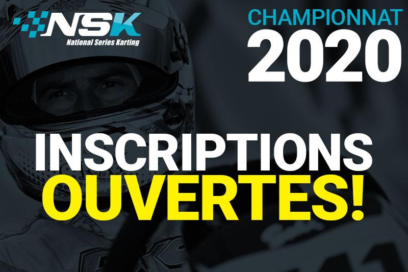Date d'ouverture des inscriptions NSK 2020 !