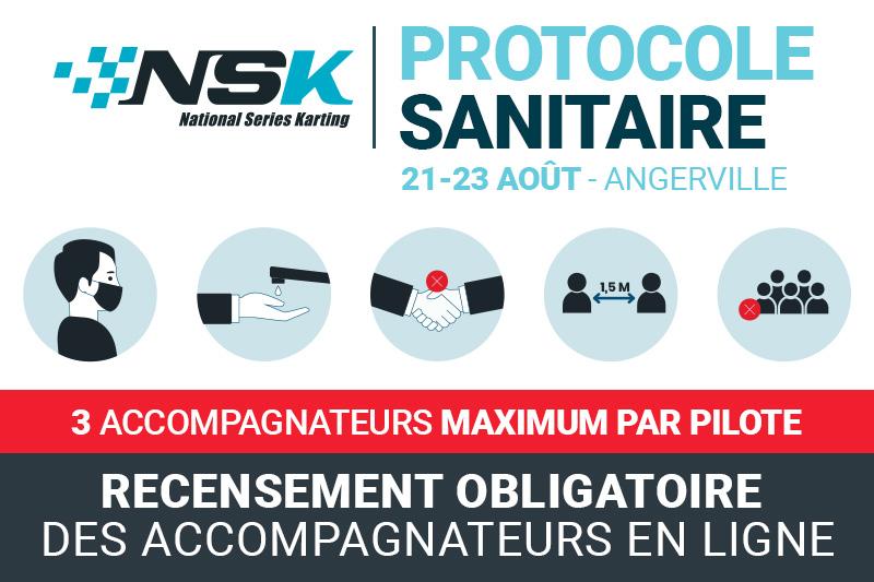 NSK ANGERVILLE : PROTOCOLE SANITAIRE