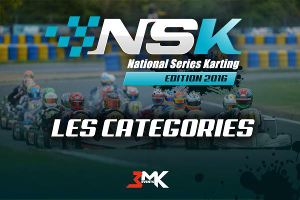 Les catégories du championnat NSK 2016