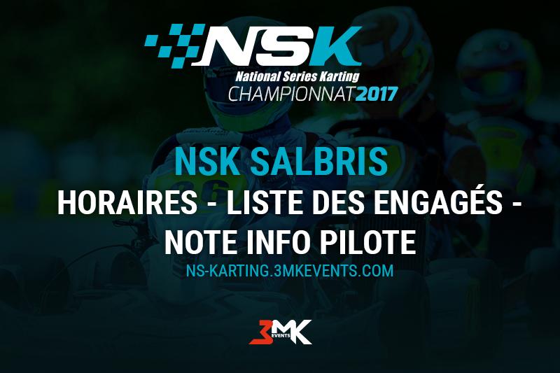 NSK Salbris 2017 : Les infos