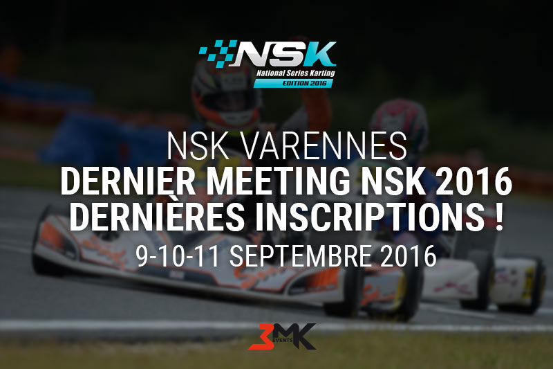 Dernier meeting NSK 2016 – Dernières inscriptions