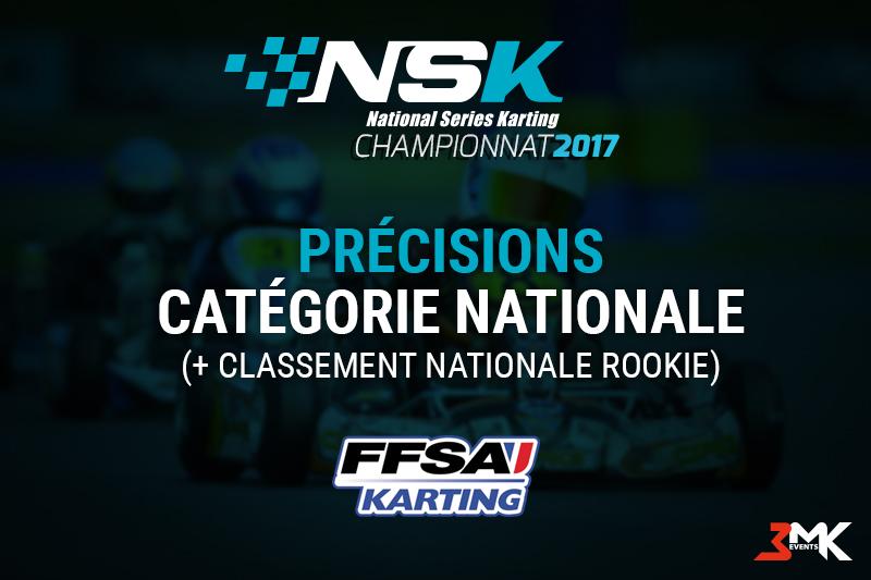 Précisions catégorie Nationale + classement Rookie