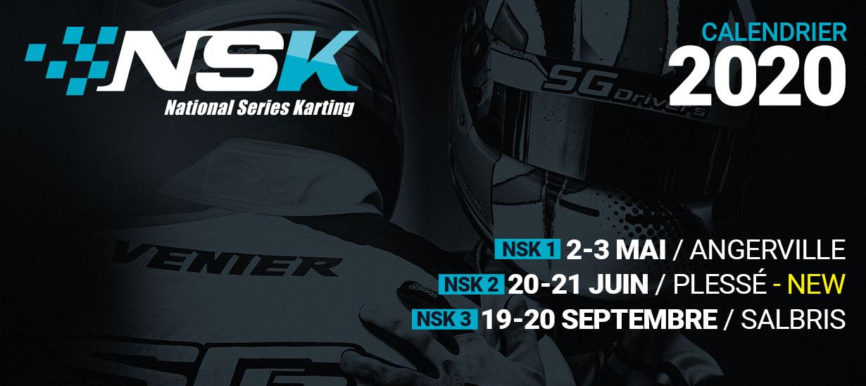Circuits 2020 du Championnat NSK